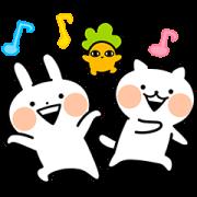 Usagyuuun and Nekogyuuun Sticker for LINE & WhatsApp | ZIP: GIF & PNG