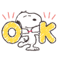 Basic Daily Snoopy Stickers