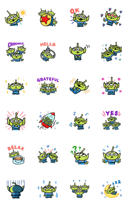Daily Alien Stickers Line Sticker GIF & PNG Pack: Animated & Transparent No Background | WhatsApp Sticker