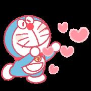 Doraemon Pair Stickers (Doraemon) Sticker for LINE & WhatsApp   ZIP: GIF & PNG