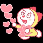 Doraemon Pair Stickers (Dorami) Sticker for LINE & WhatsApp   ZIP: GIF & PNG