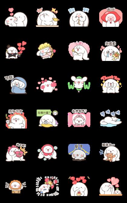 Mang Sang Tokki  Joyful Stickers Line Sticker GIF & PNG Pack: Animated & Transparent No Background | WhatsApp Sticker