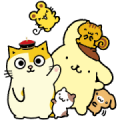 PomPomPurin & AMA play together Sticker for LINE & WhatsApp | ZIP: GIF & PNG