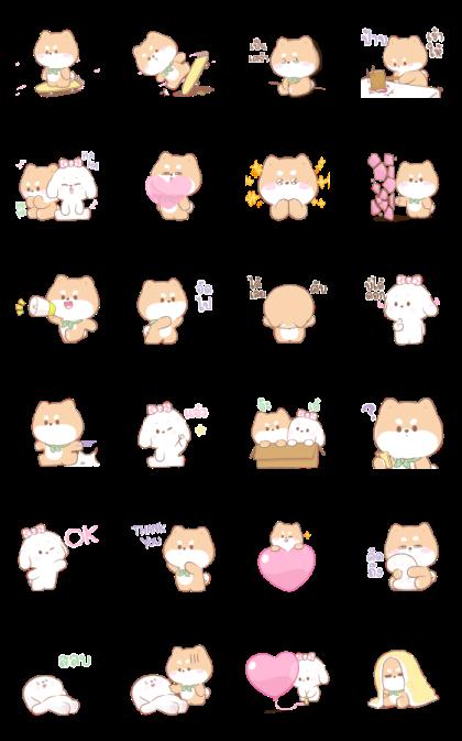 Shibung & Bingsu: Pastels Line Sticker GIF & PNG Pack: Animated & Transparent No Background   WhatsApp Sticker