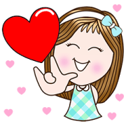 Candy Girl × RMS Hit Music: Cute Wishes Sticker for LINE & WhatsApp | ZIP: GIF & PNG