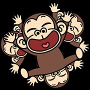 Funny Monkey Pop-Ups 3 Sticker for LINE & WhatsApp   ZIP: GIF & PNG