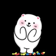 Gluta Bear Dukdik Yukyik Sticker for LINE & WhatsApp | ZIP: GIF & PNG