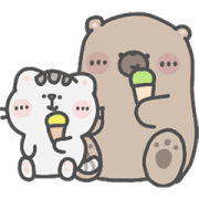 Mr. Bear and His Cutie Cat: Alert Sticker for LINE & WhatsApp | ZIP: GIF & PNG