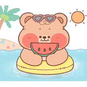 Onnie Bear Animated Sticker for LINE & WhatsApp | ZIP: GIF & PNG