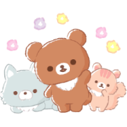 Rilakkuma: Friends of Chairoikoguma Sticker for LINE & WhatsApp | ZIP: GIF & PNG