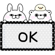 YOSISTAMP-100% Rabbit Message Stickers Sticker for LINE & WhatsApp | ZIP: GIF & PNG