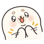 Baby Seal A-SHU So Excited! Sticker for LINE & WhatsApp | ZIP: GIF & PNG