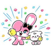 CHICHI: created by JISOO Sticker for LINE & WhatsApp | ZIP: GIF & PNG