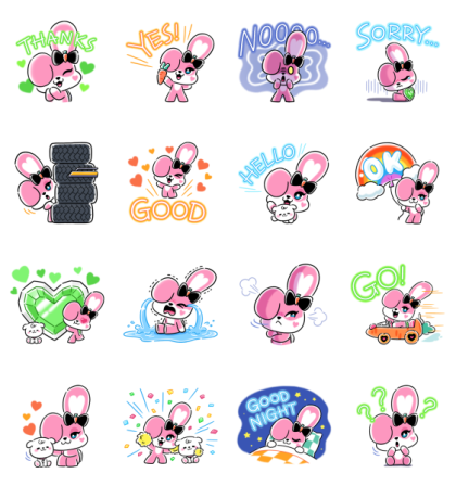 CHICHI: created by JISOO Line Sticker GIF & PNG Pack: Animated & Transparent No Background | WhatsApp Sticker