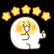 Egg boy 3 Sticker for LINE & WhatsApp | ZIP: GIF & PNG