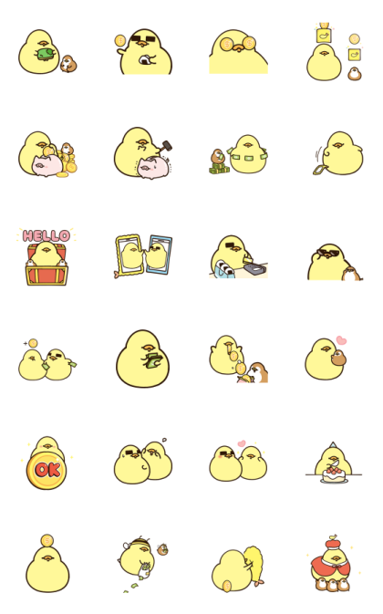 FoodieG Golden Stickers Line Sticker GIF & PNG Pack: Animated & Transparent No Background   WhatsApp Sticker