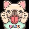 French Bulldog-PIGU XX [BIG] Stickers