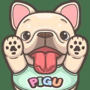French Bulldog-PIGU XX Big Stickers Sticker for LINE & WhatsApp | ZIP: GIF & PNG