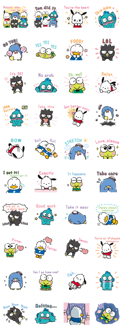 Hapidanbui Easygoing Stickers Line Sticker GIF & PNG Pack: Animated & Transparent No Background | WhatsApp Sticker