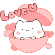 Lazynfatty - Fatty Cat Love Sticker for LINE & WhatsApp | ZIP: GIF & PNG