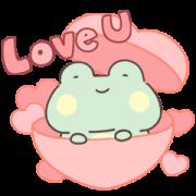Lazynfatty - GuaGua Frog Love Sticker for LINE & WhatsApp | ZIP: GIF & PNG