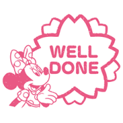 Mickey and Friends (Rubber Stamps) Sticker for LINE & WhatsApp | ZIP: GIF & PNG