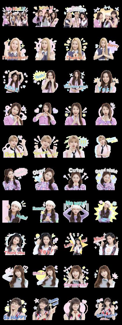NiziU Line Sticker GIF & PNG Pack: Animated & Transparent No Background | WhatsApp Sticker