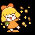 Orange Girl! (Golden Sticker)