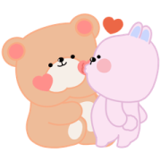 Pana Bear and Friends! Sticker for LINE & WhatsApp | ZIP: GIF & PNG