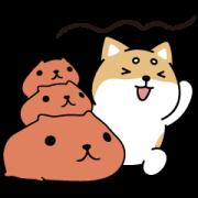 Shibasays × Kapibarasan Crossover Sticker for LINE & WhatsApp | ZIP: GIF & PNG