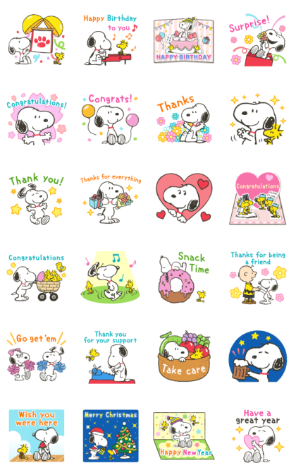 Snoopy Special Event Stickers Line Sticker GIF & PNG Pack: Animated & Transparent No Background   WhatsApp Sticker