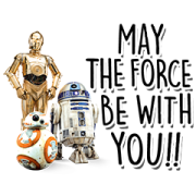 Star Wars (Favorite Characters) Sticker for LINE & WhatsApp | ZIP: GIF & PNG