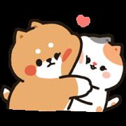 Tonton Friends Love Daily Joyful Sticker Sticker for LINE & WhatsApp | ZIP: GIF & PNG