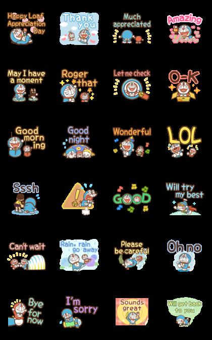 Animated Doraemon Keigo Stickers Line Sticker GIF & PNG Pack: Animated & Transparent No Background | WhatsApp Sticker