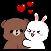 BROWN & FRIENDS × Gkomo Sticker for LINE & WhatsApp | ZIP: GIF & PNG