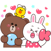 Boobib × BROWN & FRIENDS Sticker for LINE & WhatsApp | ZIP: GIF & PNG