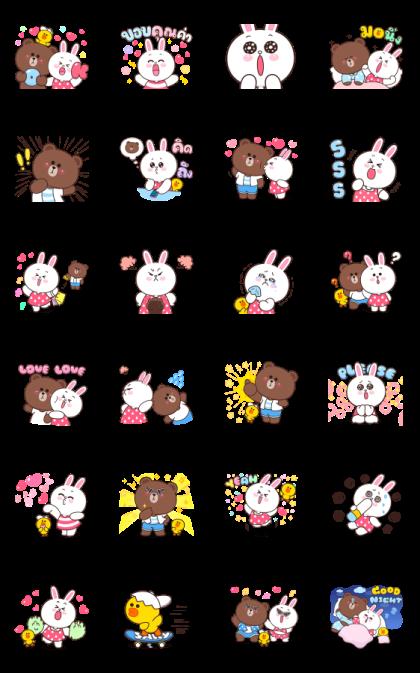 Boobib × BROWN & FRIENDS Line Sticker GIF & PNG Pack: Animated & Transparent No Background   WhatsApp Sticker