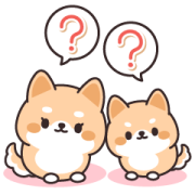 Contact of Shiba Inu Parent and Child Sticker for LINE & WhatsApp | ZIP: GIF & PNG