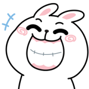 N9: CHEER Rabbit Animated x3 Sticker for LINE & WhatsApp   ZIP: GIF & PNG