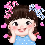 PhakKom Lovely Sticker for LINE & WhatsApp | ZIP: GIF & PNG