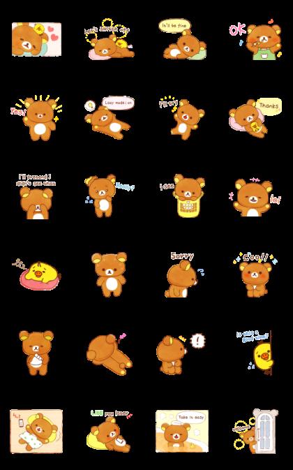 Rilakkuma beside you stickers Line Sticker GIF & PNG Pack: Animated & Transparent No Background   WhatsApp Sticker