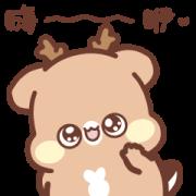 Sweet House: Expressive Little Deer 2 Sticker for LINE & WhatsApp | ZIP: GIF & PNG
