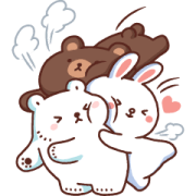 Bac Bac Diary × BROWN & FRIENDS Stickers Sticker for LINE & WhatsApp | ZIP: GIF & PNG