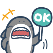 Brand Commerce × Mr.shark free sticker Sticker for LINE & WhatsApp   ZIP: GIF & PNG