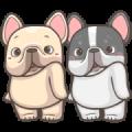 French Bulldog PIGU-Animated Sticker XXI