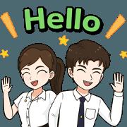 General Education English, NRRU(EVT) Sticker for LINE & WhatsApp   ZIP: GIF & PNG