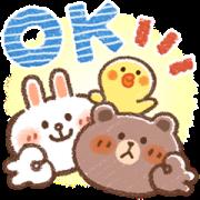 Honobono × BROWN Sticker for LINE & WhatsApp | ZIP: GIF & PNG