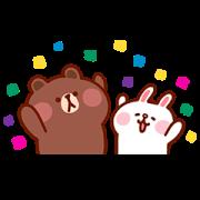 Kanahei × BROWN & FRIENDS Sticker for LINE & WhatsApp | ZIP: GIF & PNG