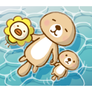 Oricotori×Rakko-san Sticker for LINE & WhatsApp | ZIP: GIF & PNG