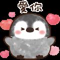 Pastel Penguin Pop-Up Flower Stickers